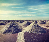 Salt mine at Sambhar Lake, Sambhar, Rajasthan, India — Stock Photo