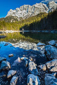 Frillensee lake  and Zugspitze - the highest mountain in Germany — Stock Photo