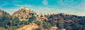 Panorama of Kumbhalgrh fort. Rajasthan, India — Stock Photo