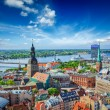 Luftbild von Riga Center von St.Peter's Church, Riga, Lettland — Stockfoto #45096073