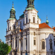 St. Nicholas church at Old Town Square, Prague — Stock Photo
