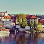 Panorama of historic center of Prague — Stock Photo