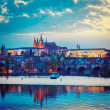 View of Charles Bridge and Prague Castle in twilight — Stock Photo #45096733