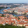 View of Charles Bridge over Vltava river and Old city — Stock Photo #45096761