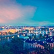 Panoramic view of Prague bridges over Vltava river — Stock Photo #45096969