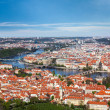 View of Charles Bridge over Vltava river and Old city — Stock Photo #45097049