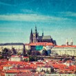 View of Hradchany: the Saint Vitus (St. Vitt's) Cathedral — Stock Photo #45097099