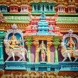 Sculptures on Hindu temple tower — Stock Photo #45097177