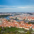 View of Charles Bridge over Vltava river and Old city — Stock Photo #45097371