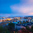 Panoramic view of Prague bridges over Vltava river — Stock Photo #45097463