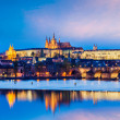View of Charles Bridge and Prague Castle in twilight — Stock Photo #45097627