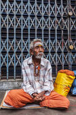Unidentified old Indian man — Stock Photo