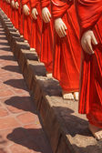 500 statues of Buddhist monks (Arahants) in Nellikulama Temple — Stock Photo