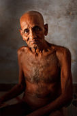 Jain monk of Digambara (sky-clad) sect — Stock Photo