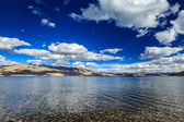 Lake Tso Moriri in Himalayas. Ladakh, India — Stock Photo