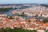 View of Charles Bridge over Vltava river and Old city — Photo