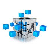 Business teamwork internet communication concept — Stock Photo