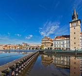 Praag stare mesto dijk uitzicht van de karelsbrug — Stockfoto