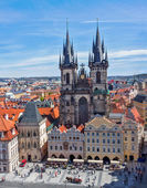Tyn Church (Tynsky Chram), Prague — Stock Photo