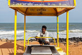 Unidentified Indian street ice cream vendor — Stock Photo
