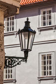 Old street lamp in Prague street — Stock Photo
