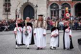 Procession du saint sang le jour de l'ascension à bruges (brugge) — Photo