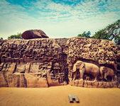 Descent of the Ganges and Arjuna's Penance, Mahabalipuram — Stock Photo