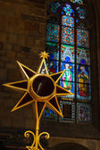 Christmas star in St. Vitus cathedral, Prague — Stock Photo
