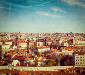 Aerial view of Prague from Prague Castle — Stock Photo