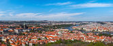 Panoramic view of Prague from Prague Castle — Stock Photo