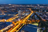Aerial view of BMW Museum and BWM Welt and Munich — Stock Photo