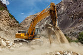Road construction in Himalayas — Stock Photo