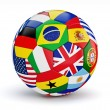 Soccer ball with countries flags — Stock Photo #49562655