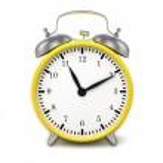 Yellow retro alarm clock — Stock Photo #49563373