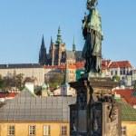 John of Nepomuk statue in Prague — Stock Photo #49563573