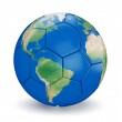 Soccer ball shaped earth — Stock Photo #49563713