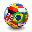 Soccer ball with countries flags — Stock Photo #49564155