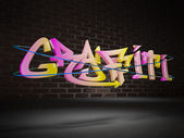 3d graffiti — Stock Photo
