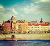 Prague Stare Mesto embankment — Stock Photo