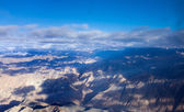 Himalayas mountains aerial view — Stock Photo