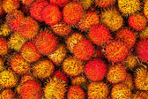 Tropical fruit rambutan — Stock Photo