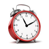 Red retro alarm clock — Foto Stock