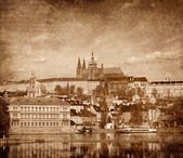 View of Charles bridge — Foto Stock