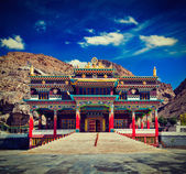 Buddhist monastery in Kaza — Stock Photo