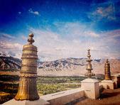 Dhvaja na thiksey klasztoru. ladak — Zdjęcie stockowe