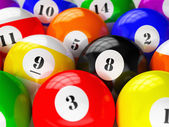 Set of billiard pool balls — Stock Photo