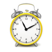 Yellow retro alarm clock — Stock Photo