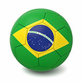 Soccer ball with countries flags — Stock Photo