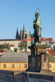 John of Nepomuk statue in Prague — Stock Photo