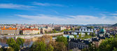 Panoramic view of Prague bridges — Foto Stock